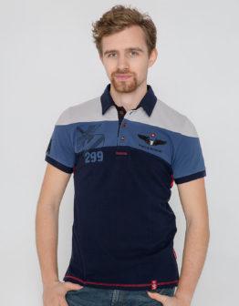 Men's Polo Shirt 299 Brigade. Color denim. Тканина піке: 100% бавовна.
