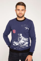 Men's Long Sleeve Hutsul Space Program. Material: 75% cotton, 21% polyester, 4% spandex.