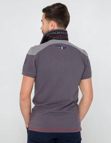 Men's Polo Shirt 100 Years Uga. Color gray. Pique fabric: 100% cotton.