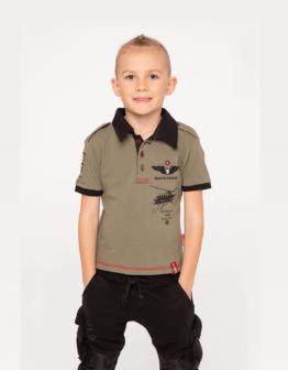 Kids Polo Shirt Sikorsky. Color khaki.  Матеріал: 100% бавовна.