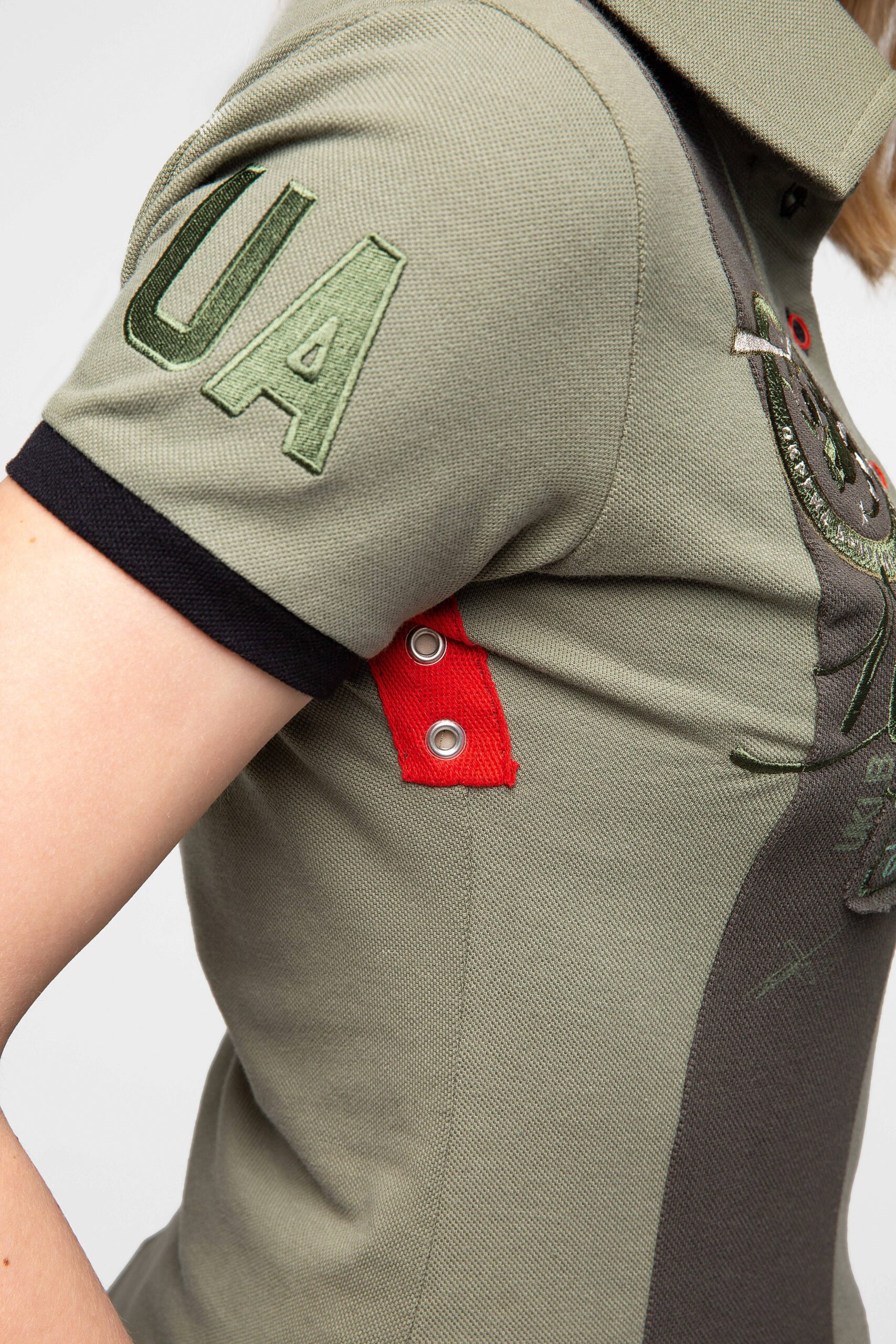 Women's Polo Shirt 16 Brigade. Color khaki.  The color shades on your screen may differ from the original color.
