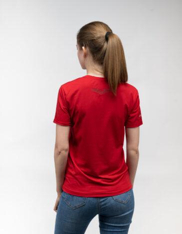 Жіноча Футболка Sikorsky. Колір червоний.  Не варто переживати за універсальний розмір.