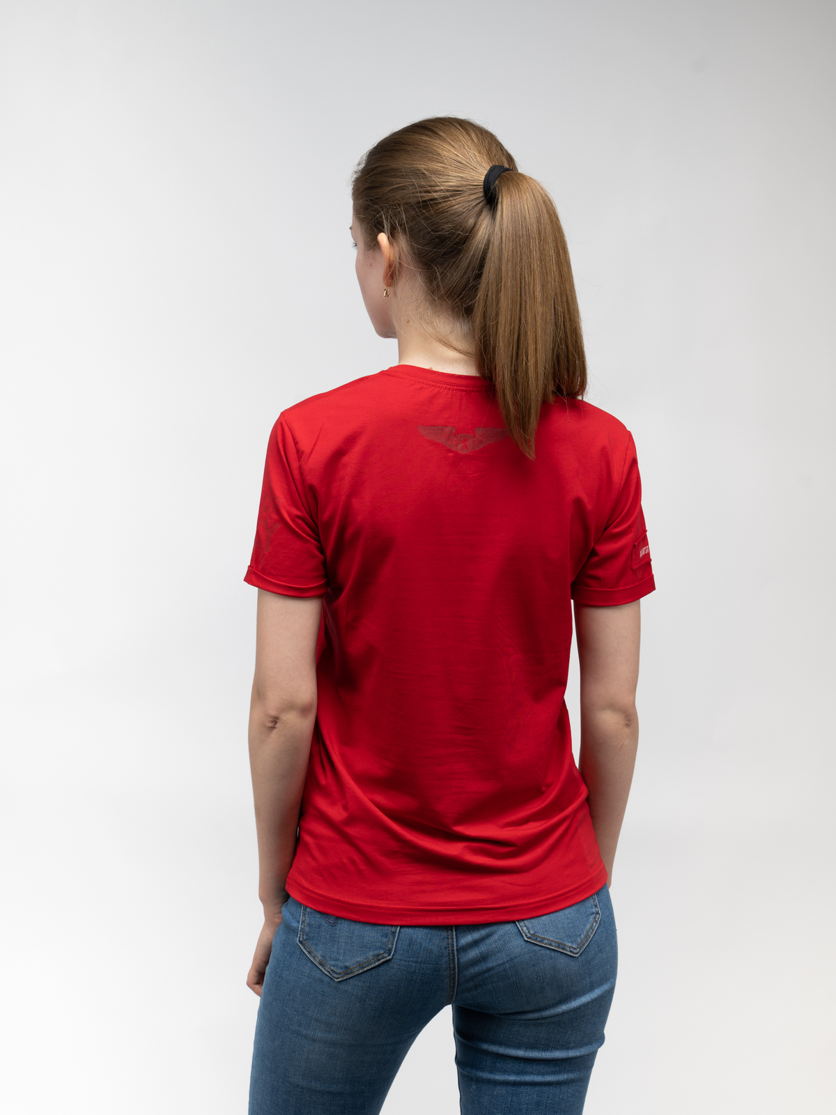Women's T-Shirt Sikorsky. Color red.  Don't worry about the universal size.