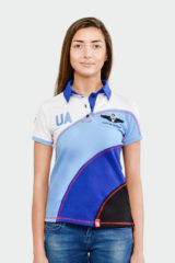 Women's Polo Shirt Baloon. Pique fabric: 100% cotton.