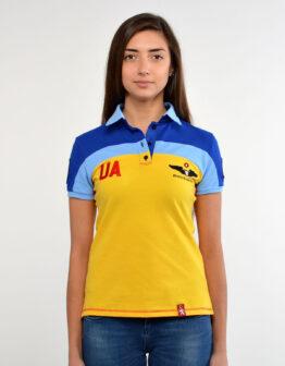 Women's Polo Shirt 114 Brigade (Ivano-Frankivsk). Color yellow. Тканина піке: 100% бавовна.