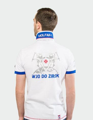 Men's Polo Shirt Molfar. Color white. Цей продукт наявний В ОСТАННІХ ЕКЗЕПЛЯРАХ і більше ВИГОТОВЛЯТИСЬ НЕ БУДЕ.