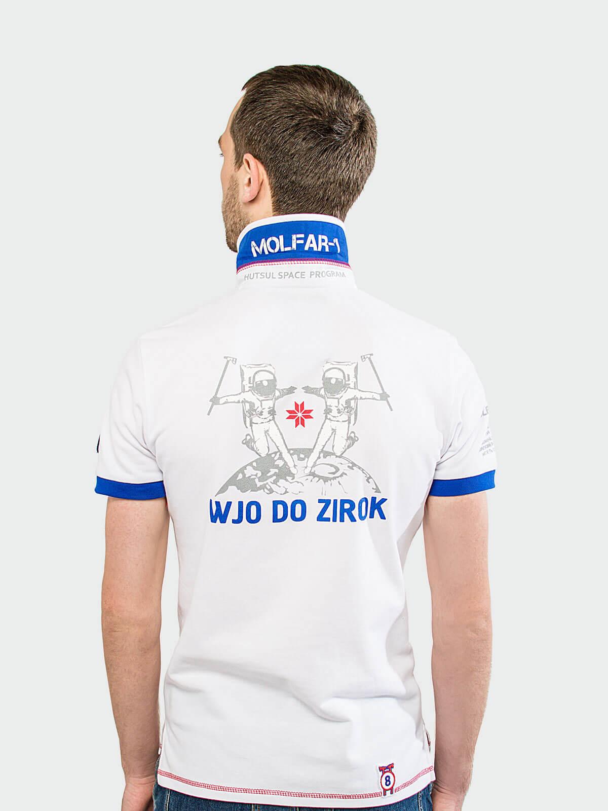 Men's Polo Shirt Molfar. Color white.  Тканина піке: 100% бавовна.