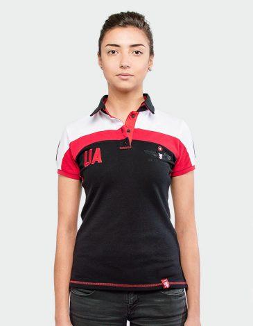 Women's Polo Shirt 114 Brigade. Color white. Pique fabric: 100% cotton.