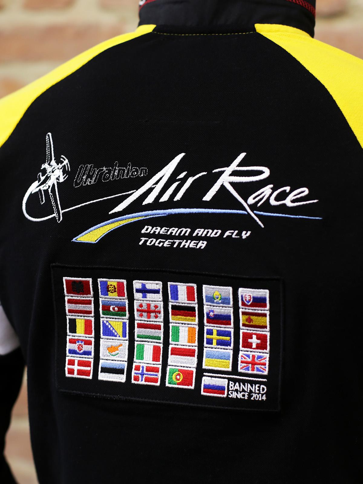 Чоловіче Поло-Лонґ Air Race Lviv Реглан. Колір чорний. 2.