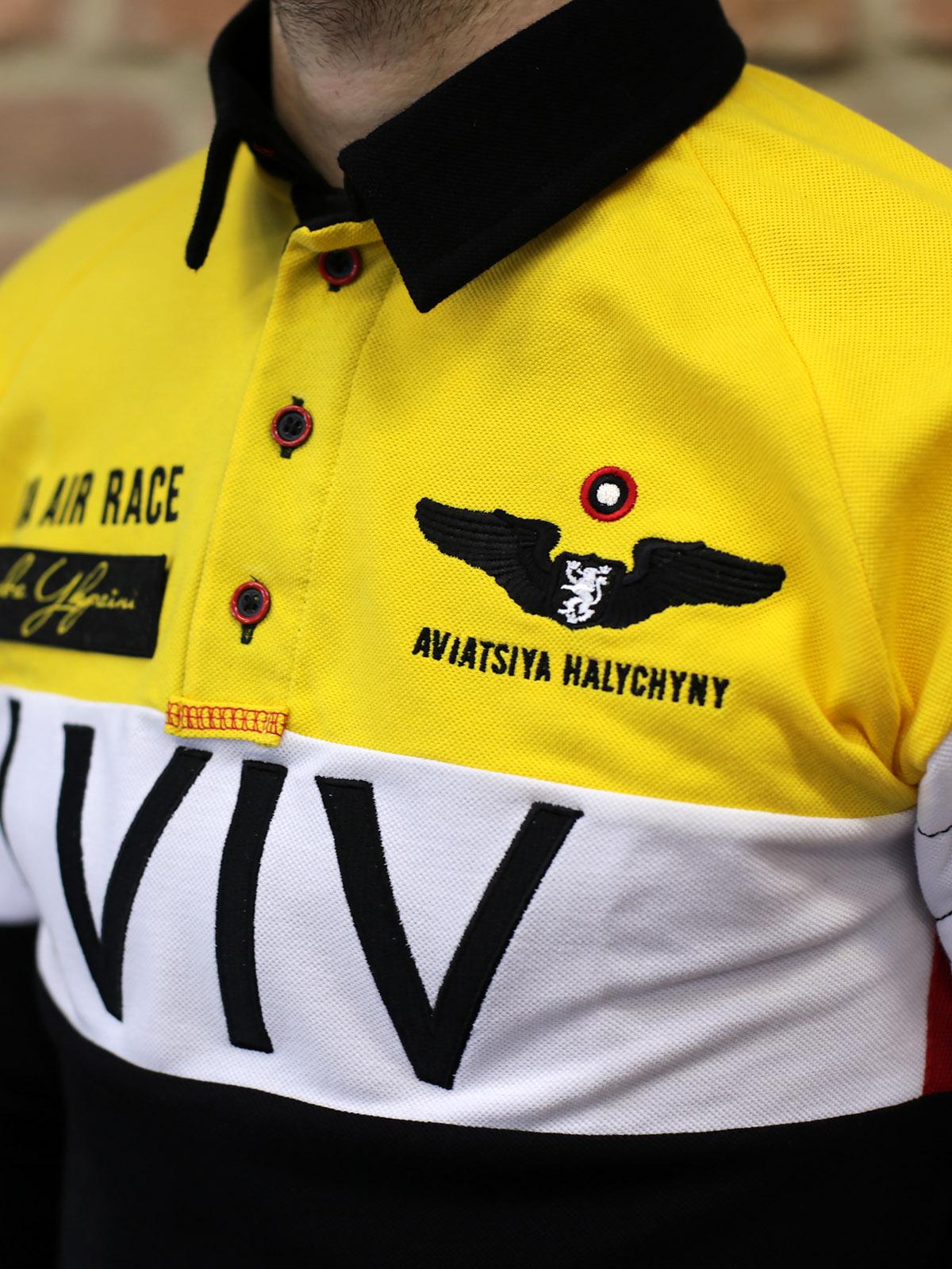 Чоловіче Поло-Лонґ Air Race Lviv Реглан. Колір чорний. Цей продукт наявний В ОСТАННІХ ЕКЗЕПЛЯРАХ і більше ВИГОТОВЛЯТИСЬ НЕ БУДЕ.