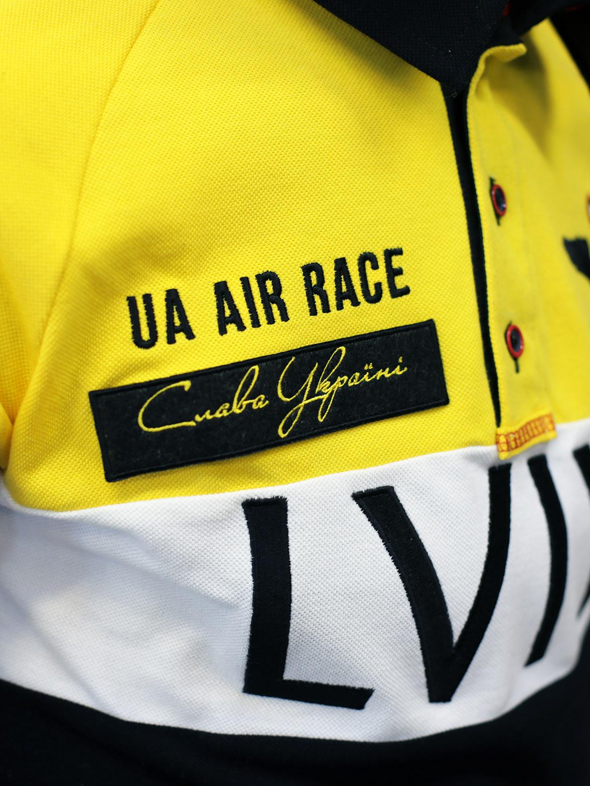 Чоловіче Поло-Лонґ Air Race Lviv Реглан. Колір чорний.  100% бавовна  .