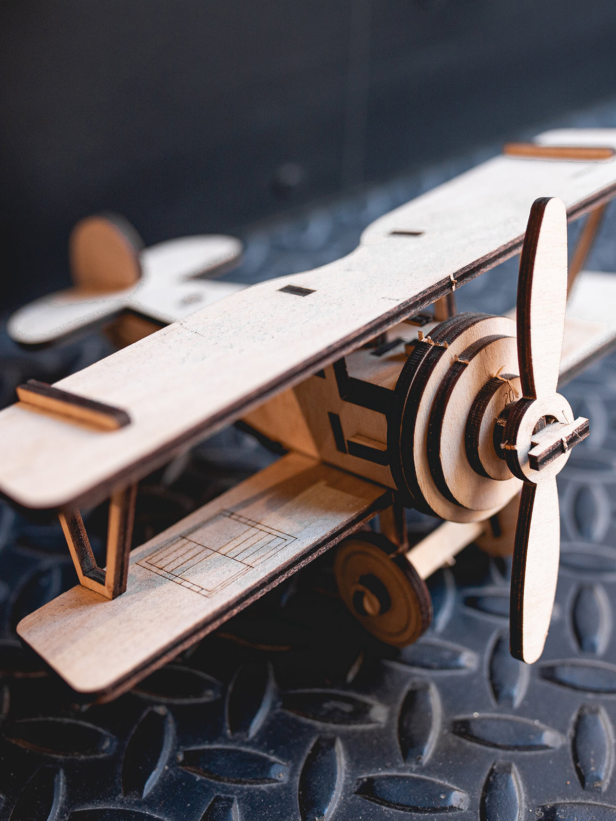 Wooden Constructor Plane. Color green. 2.