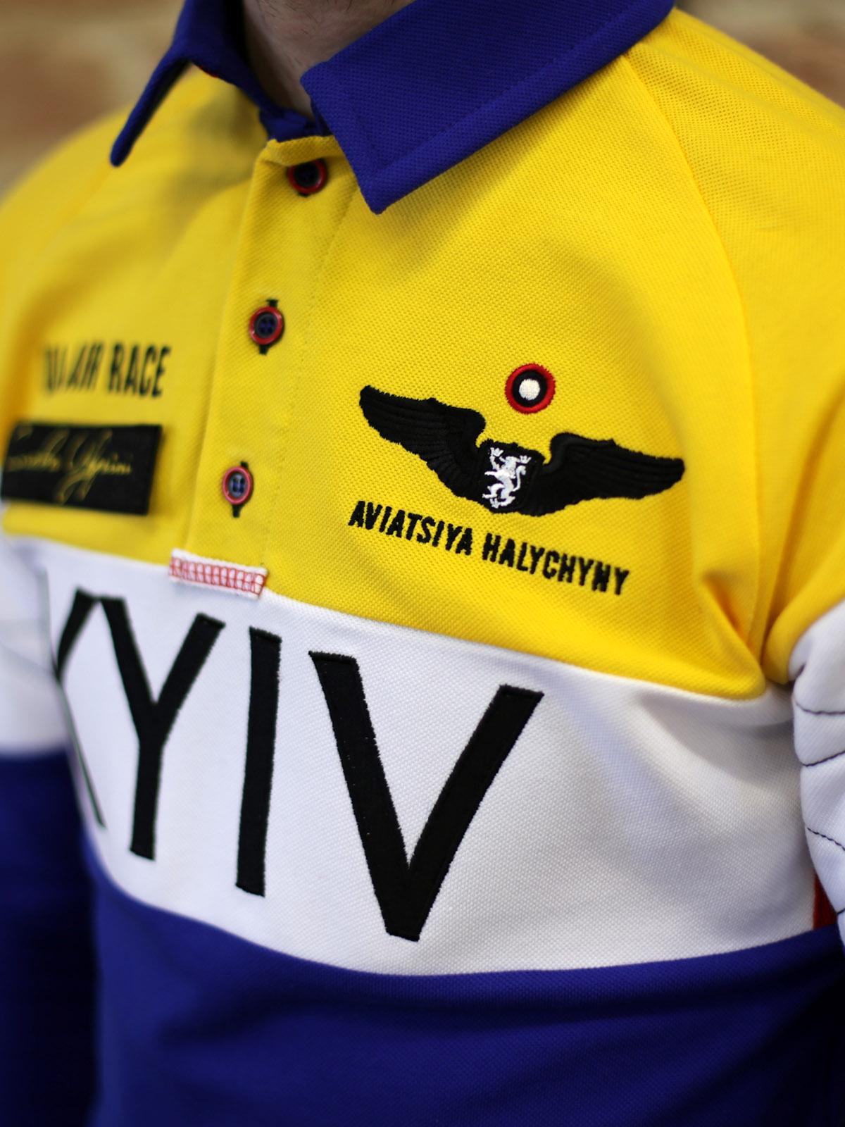Чоловіче Поло-Лонґ Air Race Kyiv Реглан. Колір синій. 6.