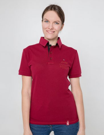 Women's Polo Shirt Wings. Color claret. 6.
