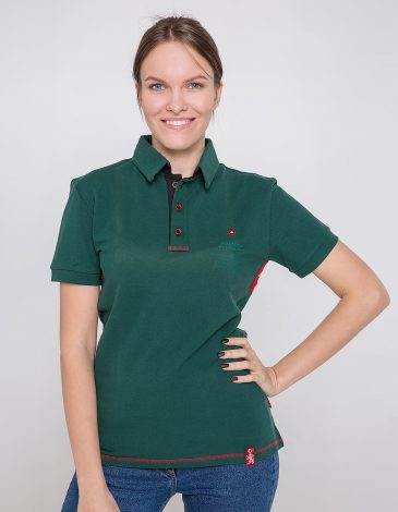 Women's Polo Shirt Wings. Color dark green. 9.