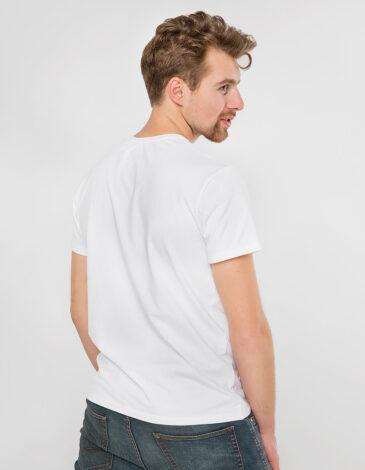 Men's T-Shirt Owl. Color white. Unisex T-shirt (men's sizes).