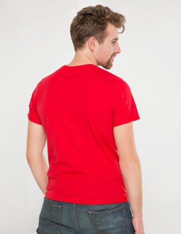 Чоловіча Футболка Sikorsky. Колір червоний.  Матеріал: 95% бавовна, 5% спандекс.