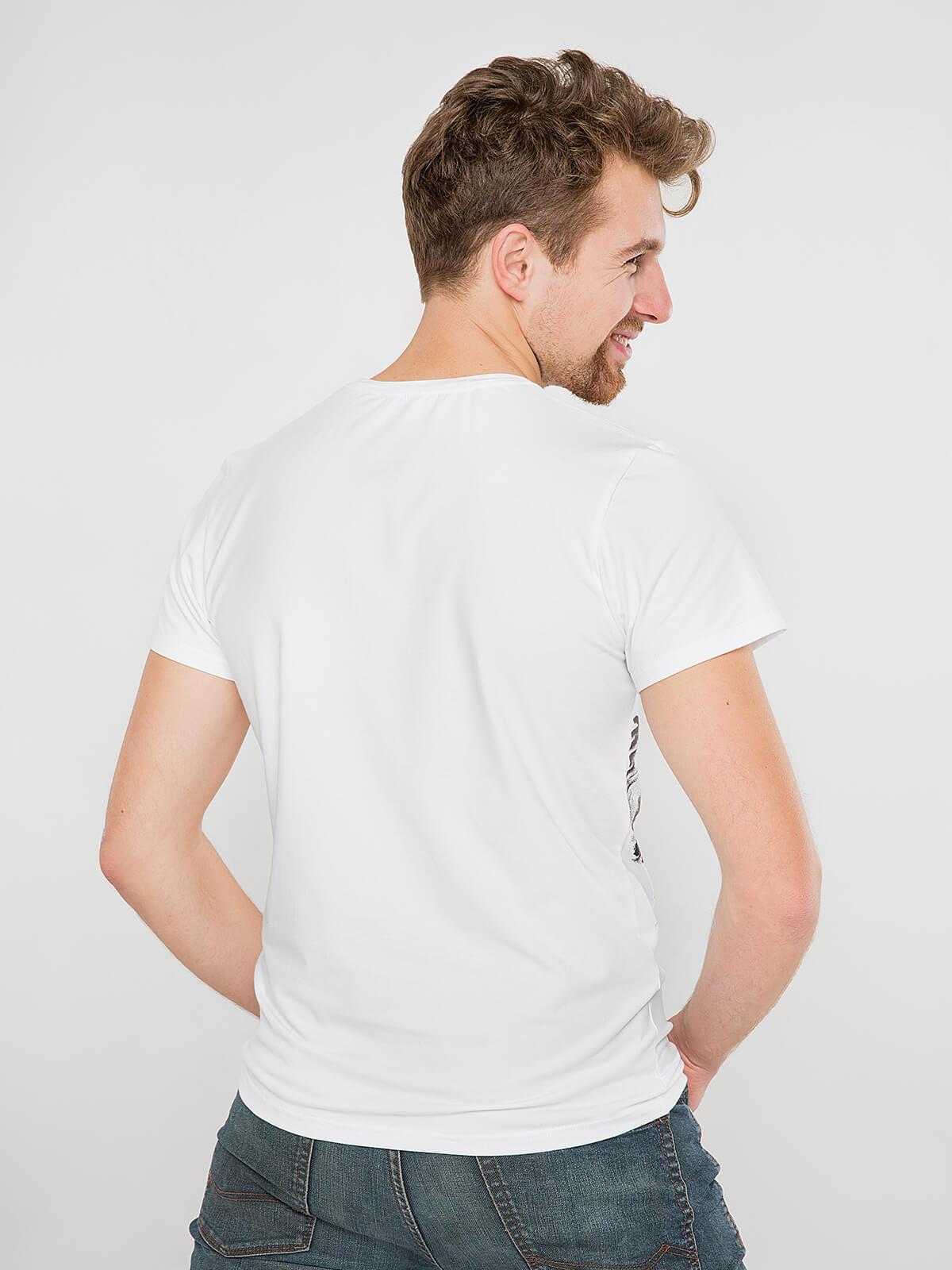 Чоловіча Футболка Орел. Колір білий.  Матеріал: 95% бавовна, 5% спандекс.