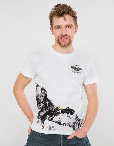 Men's T-Shirt Eagle. Color white. Unisex T-shirt (men's sizes).