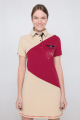 Women's Dress-Polo Shirt Olenka. Pique fabric: 100% cotton.