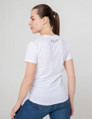 Women's T-Shirt Syla. Color white. Unisex T-shirt (men's sizes).