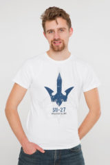 Men's T-Shirt Su-27. Material: 95% cotton, 5% spandex.