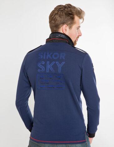 Чоловіче Поло-Лонґ Sikorsky. Колір синій. Поло-лонґ унісекс(розміри чоловічі).