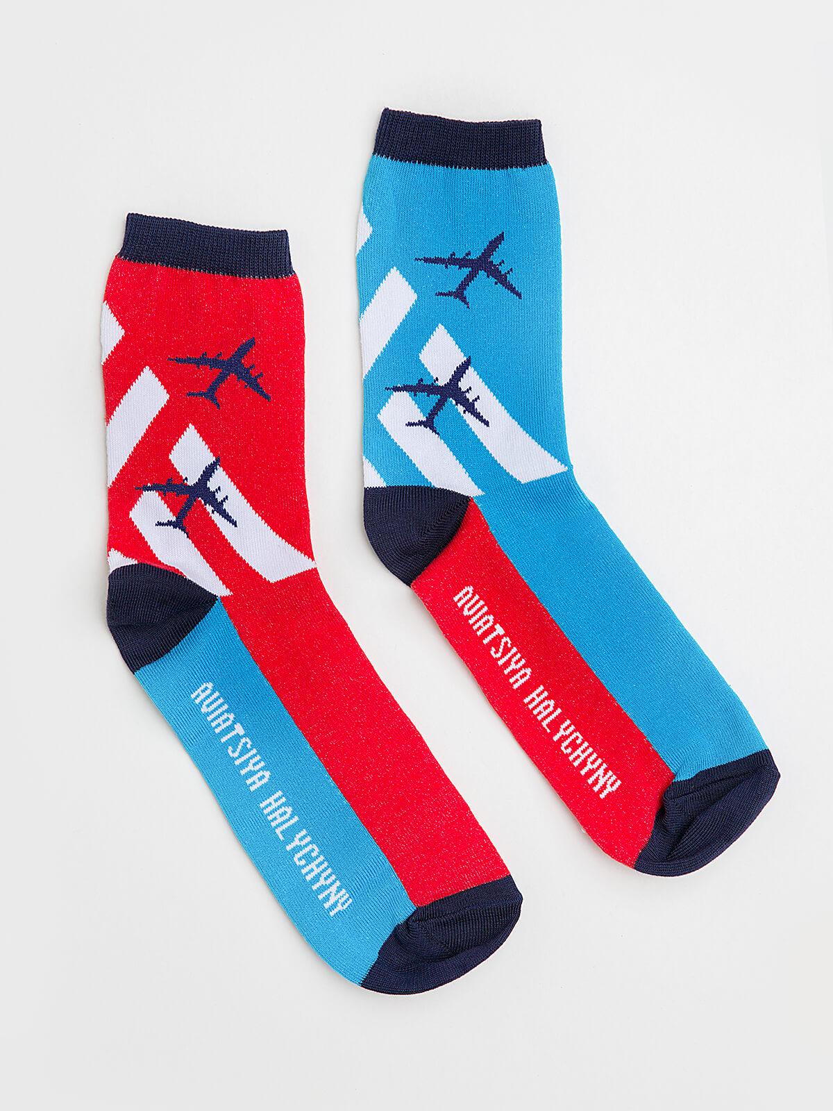 Socks Ruslan. Color turquoise. Socks: unisex Material: 95% cotton, 5% elastane.