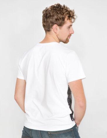 Men's T-Shirt Stork. Color white. Unisex T-shirt (men's sizes).