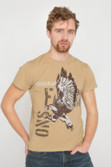 Men's T-Shirt Ukrainian Falcons. Material: 95% cotton, 5% spandex.