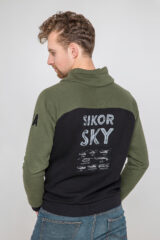 Men's Sweatshirt Sikorsky. Three-cord thread fabric: 79% cotton, 21% polyester.
