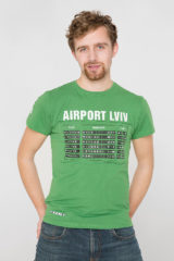 Men's T-Shirt Airport Lviv. Material: 95% cotton, 5% spandex.