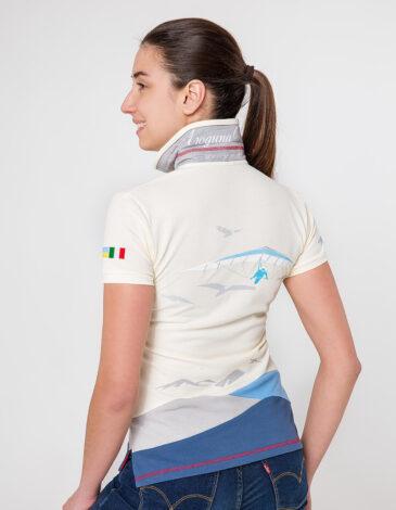 Women's Polo Shirt D'arrigo. Color ivory. Pique fabric: 100% cotton.