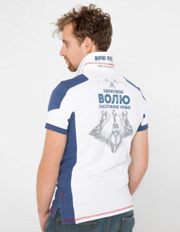Men's Polo Shirt 10 Brigade. Color white. Pique fabric: 100% cotton.