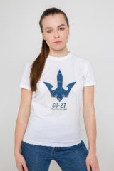 Women's T-Shirt Su-27. Material: 95% cotton, 5% spandex.