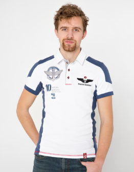 Men's Polo Shirt 10 Brigade. Color white. Тканина піке: 100% бавовна.