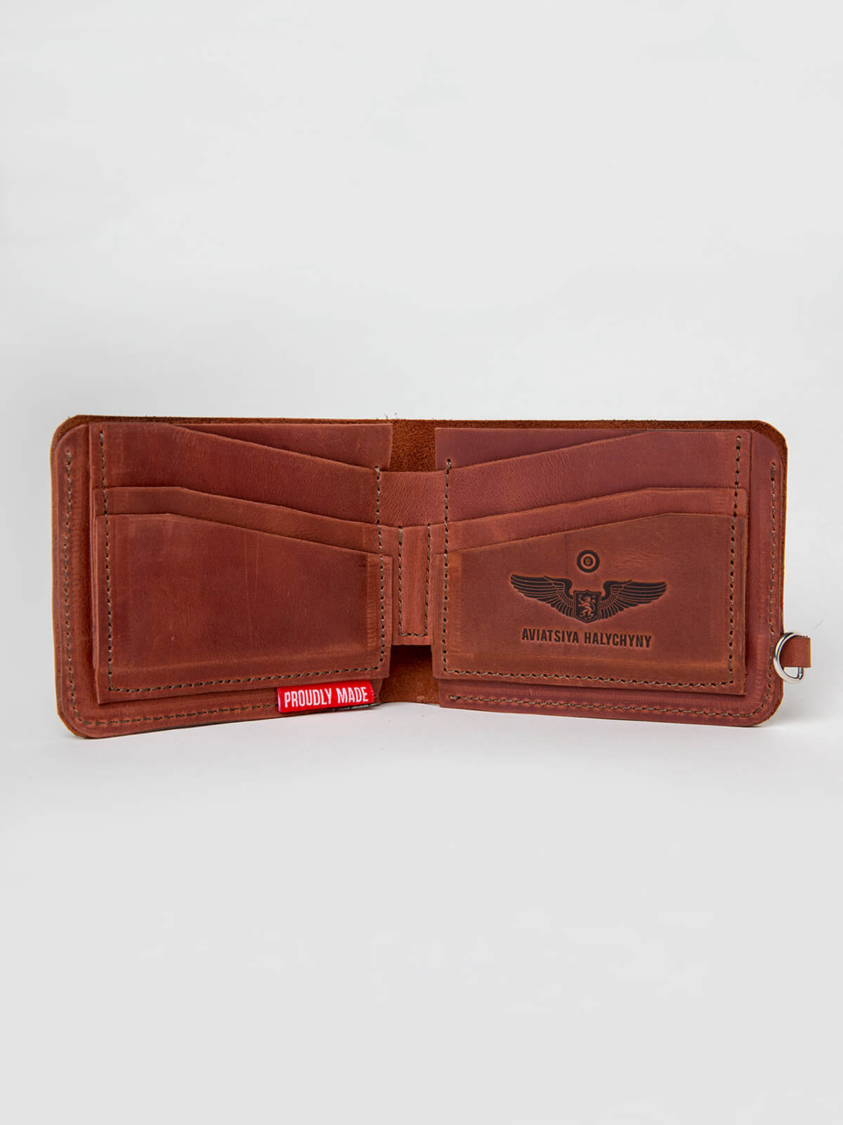 Wallet Roundel. Color light brown. 1.