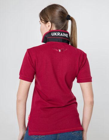 Women's Polo Shirt Wings. Color claret. 7.