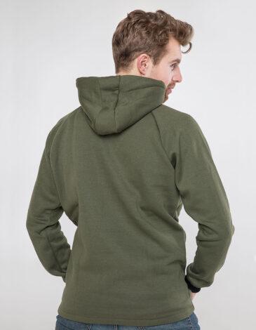Men's Hoodie Ukrainian Air Force. Color khaki. Unisex hoodie (men's sizes).