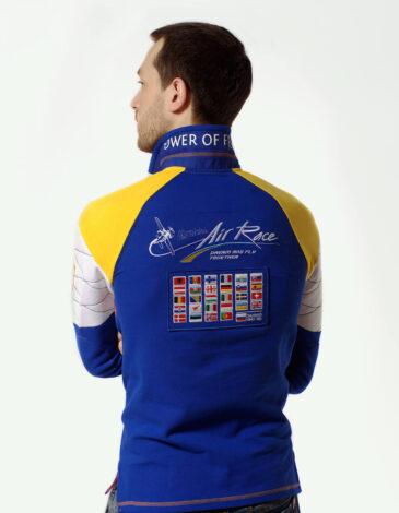 Men's Polo Long Air Race Kyiv. Color navy blue. Material: 75% cotton, 21% polyester, 4% spandex.