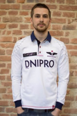 Men's Polo Long Air Race Dnipro. Material: 75% cotton, 21% polyester, 4% spandex.