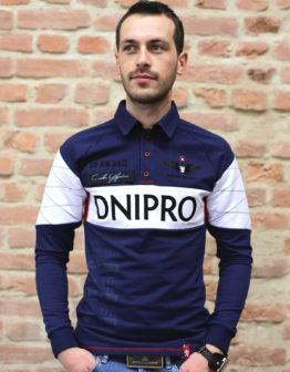 Men's Polo Long Air Race Dnipro.  100% бавовна  .