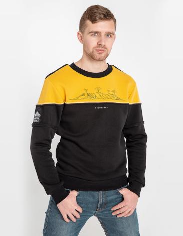 Чоловічий Світшот Мармароси. Колір жовтий. Світшот унісекс (розміри чоловічі).