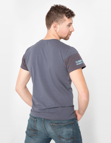 Men's T-Shirt That'S My Sea. Color dark blue. Material: 95% cotton, 5% spandex.
