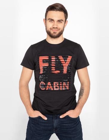 Чоловіча Футболка Fly Cabin. Колір чорний. Футболка унісекс (розміри чоловічі).