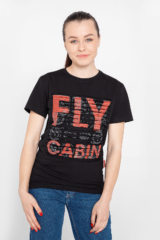 Women's T-Shirt Fly Cabin. Unisex polo long (men's sizes).
