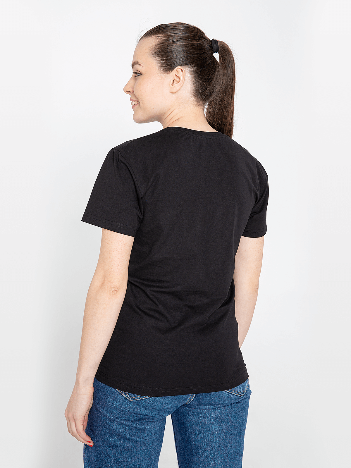 Women's T-Shirt Fly Cabin. Color black.  Don't worry about the universal size.