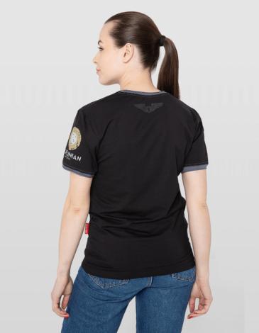 Women's T-Shirt 114 Brigade. Color black. Unisex T-shirt (men's sizes).