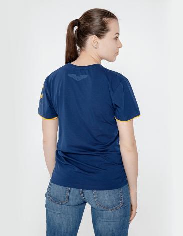 Жіноча Футболка Бe-12. Колір темно-синій. Футболкаунісекс(розміри чоловічі).