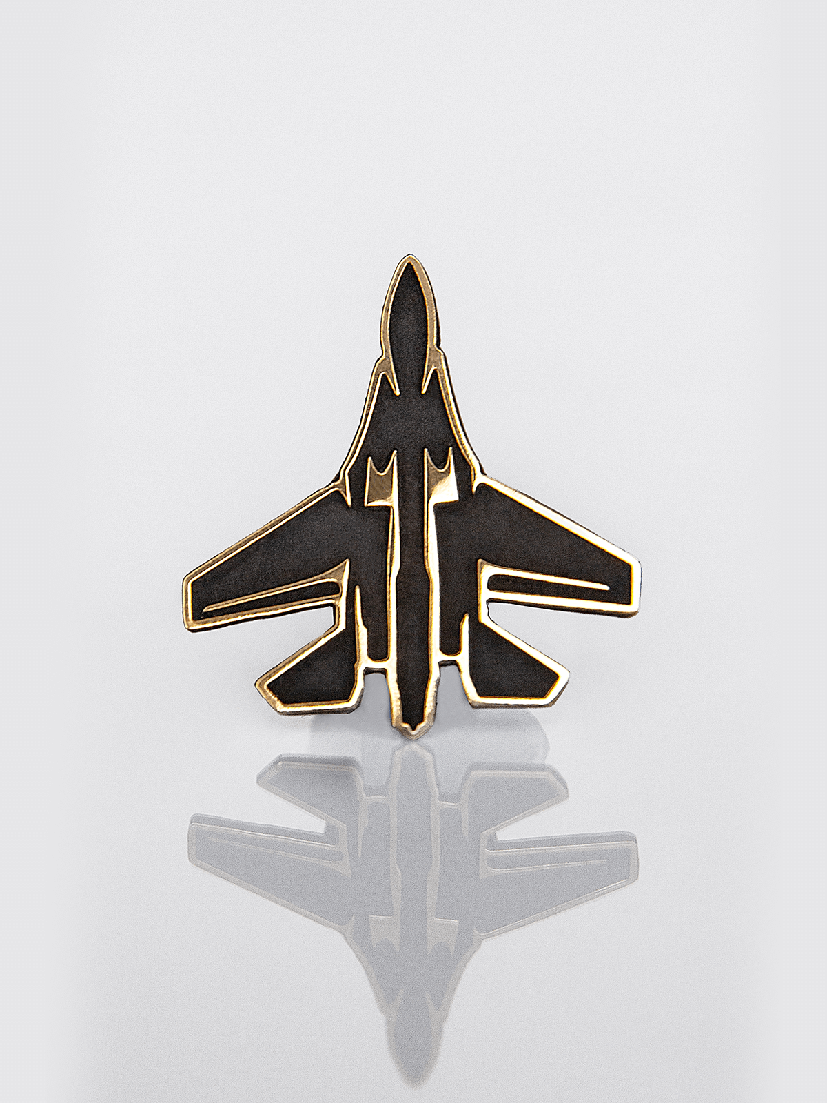 Pin Su-27. Color black. 1.